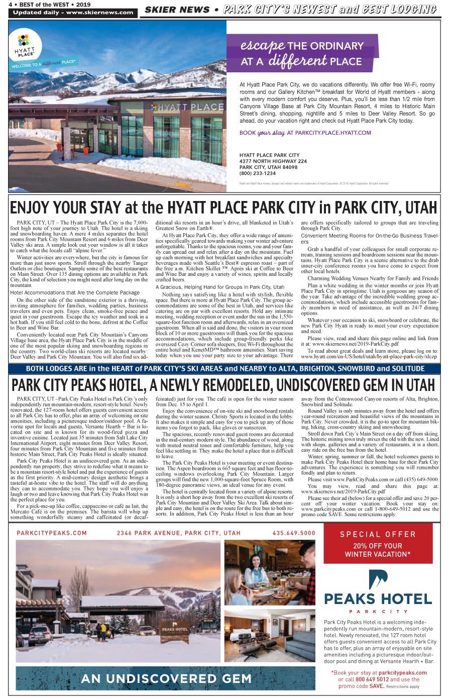 Park City Hyatt Place & Park City Peaks Hotel