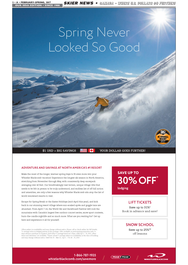 Whistler Greaty Deals in Spring