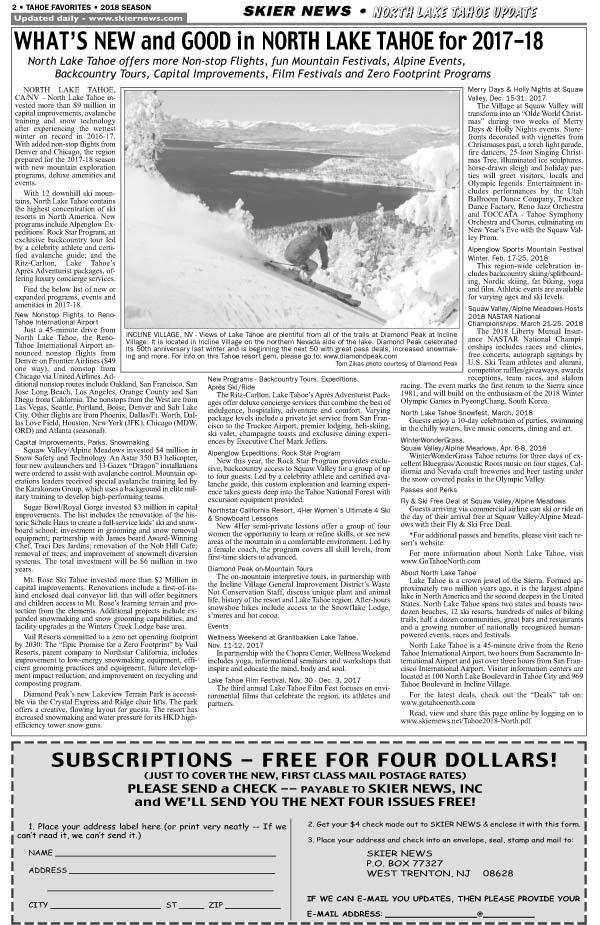 North Tahoe news
