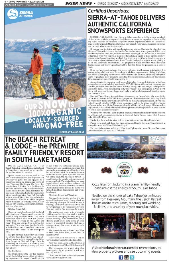 Ski Sierra-Stay at the Beach